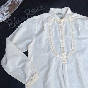 Vintage ribbon & lace blouse